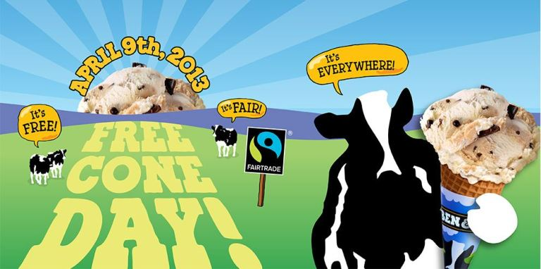 Ben & Jerry's FREE Ice cream day! April 9, 2013!
