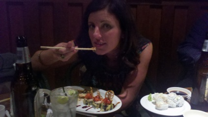 Sho Gun - Celeste with her yummy roll
