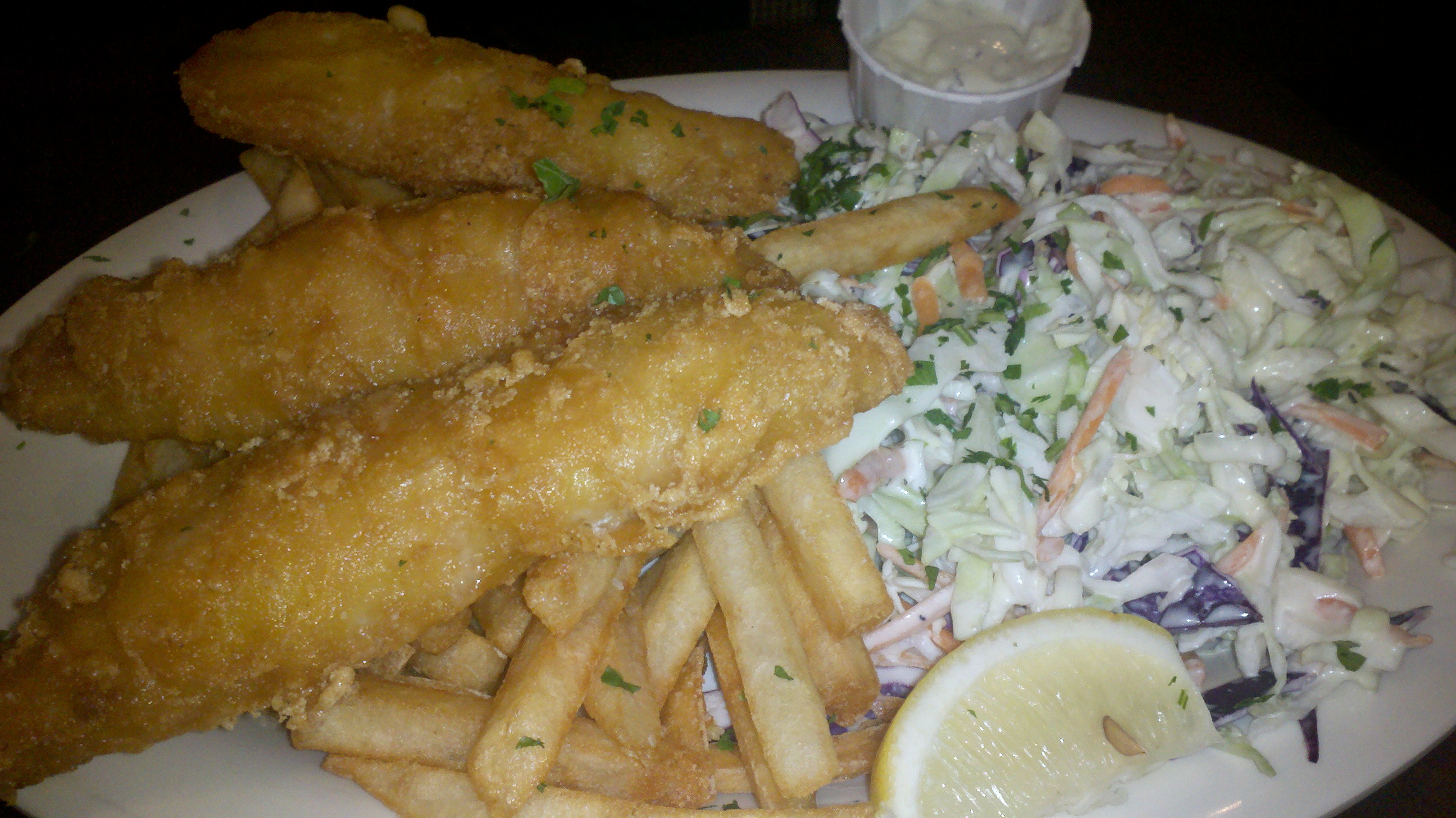 Halibut fish sticks at spike s fish house dani 39 s for Spikes fish house