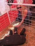Me & my piggie before my hair was attacked by a goat!!!