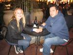 Me with my love enjoying our vino in the Uva Bar courtyard
