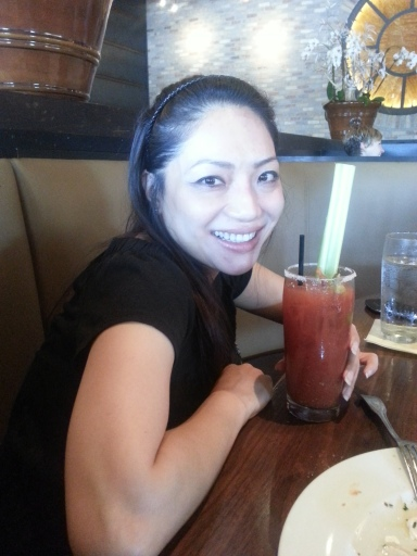 Peggy with the yummy bloody mary