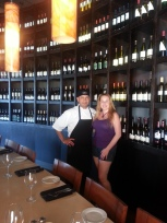 Dani & Chef Jorge Estrada of Paul Martin's American Grill Irvine Spectrum