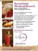 Summer Brunch Advertisement for Paul Martin's