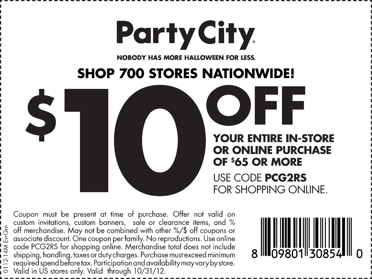 10-off-Party-city-coupon-october-2012 | Dani's Decadent Deals