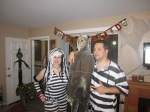 At our friend's Halloween Party as prisoners
