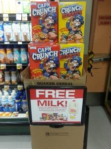 Free Milk with cereal purchase at Ralphs Fresh Fare