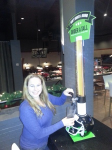 Dani with Beer tap - Dave & Buster's