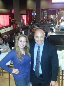 Dani with General Manager, Ralph Norwood - Dave & Buster's, Orange