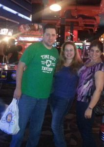 Dani, Tom from tomsfoodieblog.com & Suki from eatsukieat.com at Dave & Buster's