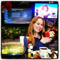 Dani with lots of yummy foods:) Dave & Buster's