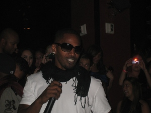 Jamie Foxx in Club Tao in the Venetian hotel