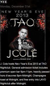 Tao NYE with J. Cole
