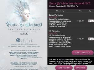 White Wonderland Anaheim Convention Center
