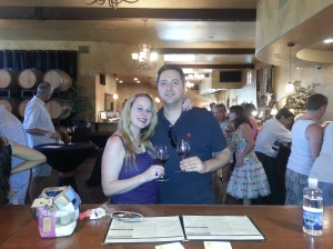 On one of our many wine tasting trips!
