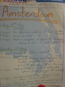 Amsterdam Schedule