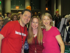 Samantha Brown with Dani & husband, Tom