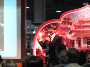 Another awesome presenter at the Travel Show