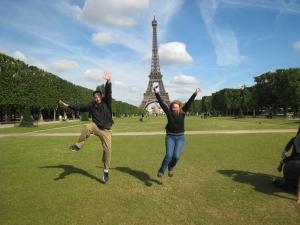 Paris - Eiffel tower mid air