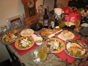 My husband's home cooked Valentine's Day Meal in 2008