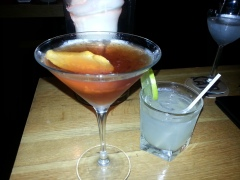 Blood Orange Manhattan & the Hot Date