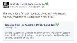 $349 airfare LAX to HI