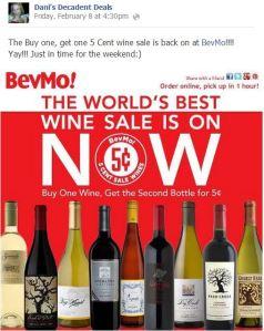 BevMo 5 cent wine sale!!