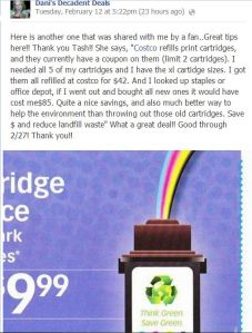 Costco Ink Cartridge deal through 2-27-13