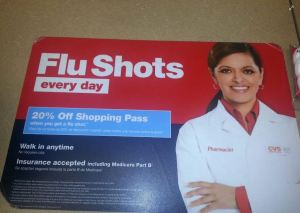CVS Flu Shots & get 20% off shopping pass