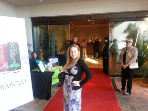 Dani on the red carpet at Lexus Newport Beach OC Restaurant Week Launch Party