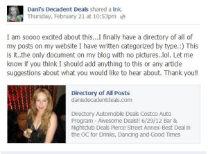 Dani's Directory of all Posts
