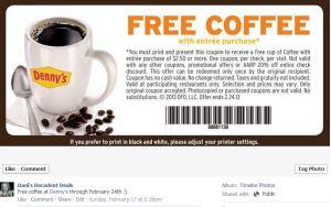 Free Denny's coffee