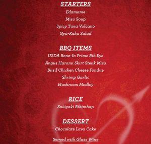 Gyu-Kaku Valentine's Day Meal