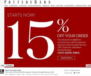 Pottery Barn 15% off through 2-25-13