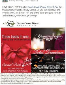 South Coast Massage Deal thru end of February 2013