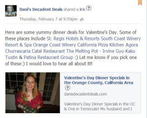 Valentine's Day Dinner Options 2013