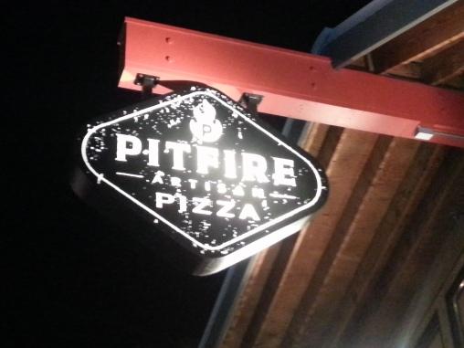 Pitfire Pizza Sign in Costa Mesa