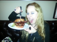 Dani with her PB&J Burger