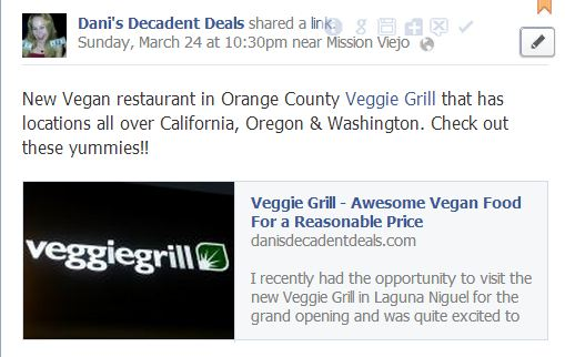 Awesome New Vegan Restaurant in Town-Veggie Grill