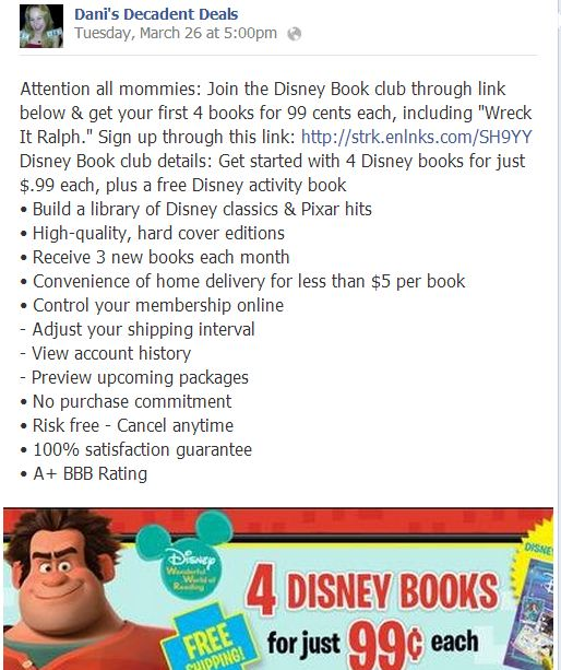 Disney Book Club - FREE Shipping
