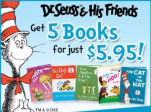 Dr. Seuss Deal 5 book for $5.95!
