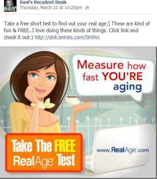 FREE Real Age Test Just for fun