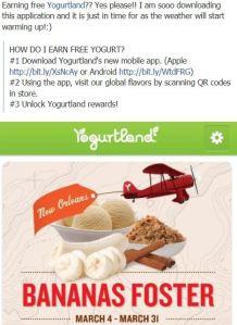 Free Yogurtland App