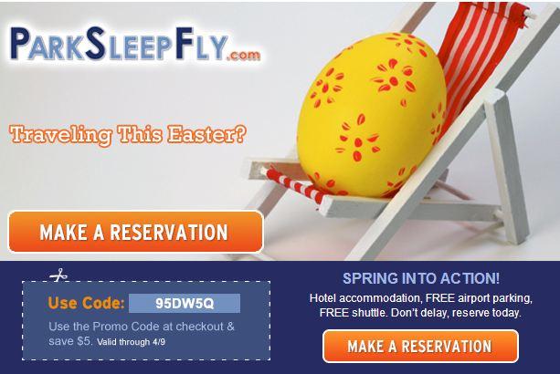 Park Sleep Fly Coupon
