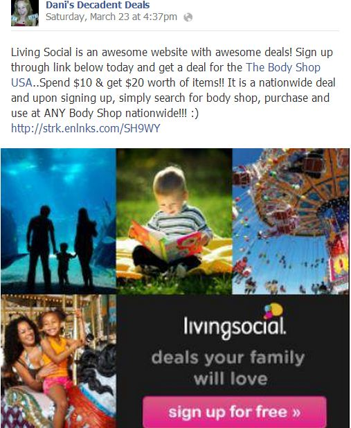 Sign up for Living Social Today!