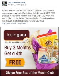 TasteGuru Meals - GLUTEN FREE