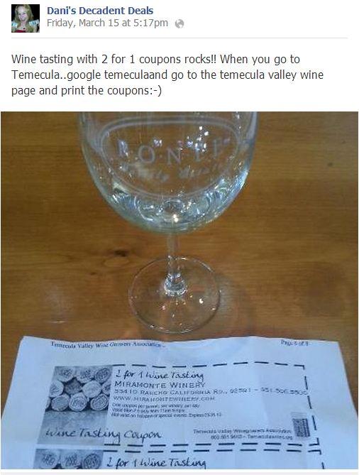Temecula wine tasting coupons 2019