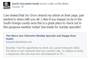 The Shore San Clemente article shared on their fb page!!