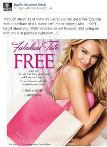 Victoria's Secret FREE Tote Bag