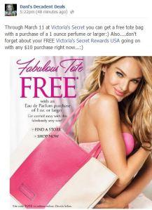 Victoria's Secret FREE Tote Bag
